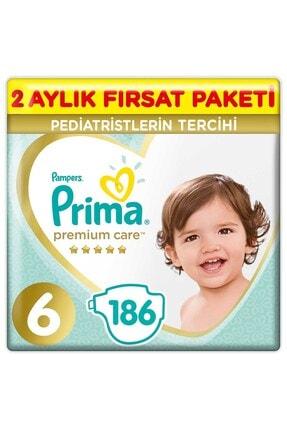 Prima Bebek Bezi Premium Care 6 Beden 186 Adet 2 Aylık Fırsat Paketi 0