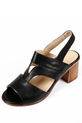GÖNDERİ(R) Kadın Siyah Hakiki Deri Sandalet 45633 3