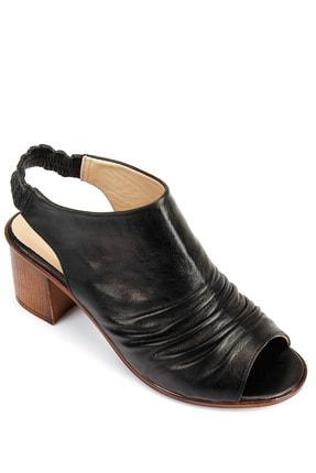 GÖNDERİ(R) Kadın Siyah Hakiki Deri Sandalet 45619 4