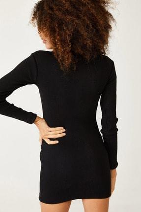 Xena Kadın Siyah Degaje Detaylı Elbise 1KZK6-11080-02 4