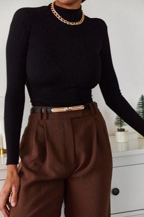 Xena Kadın Siyah Sırtı Bağlamalı Bluz 1KZK2-11045-02 1