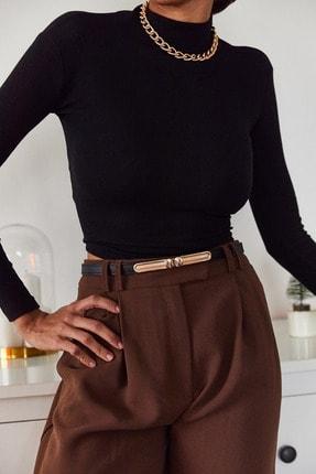 Xena Kadın Siyah Sırtı Bağlamalı Bluz 1KZK2-11045-02 2