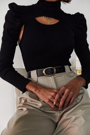 Xena Kadın Siyah İki Parçalı Prenses Kol Bluz 1KZK3-11050-02 2