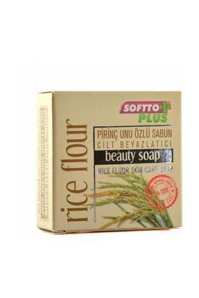 Softto Plus Pirinç Unu Özlü Cilt Beyazlatıcı Leke Sabunu 100 Gr 0