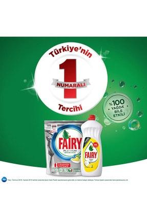 Fairy Platinum 90 Yıkama Bulaşık Deterjanı Kapsülü Limon Kok 4