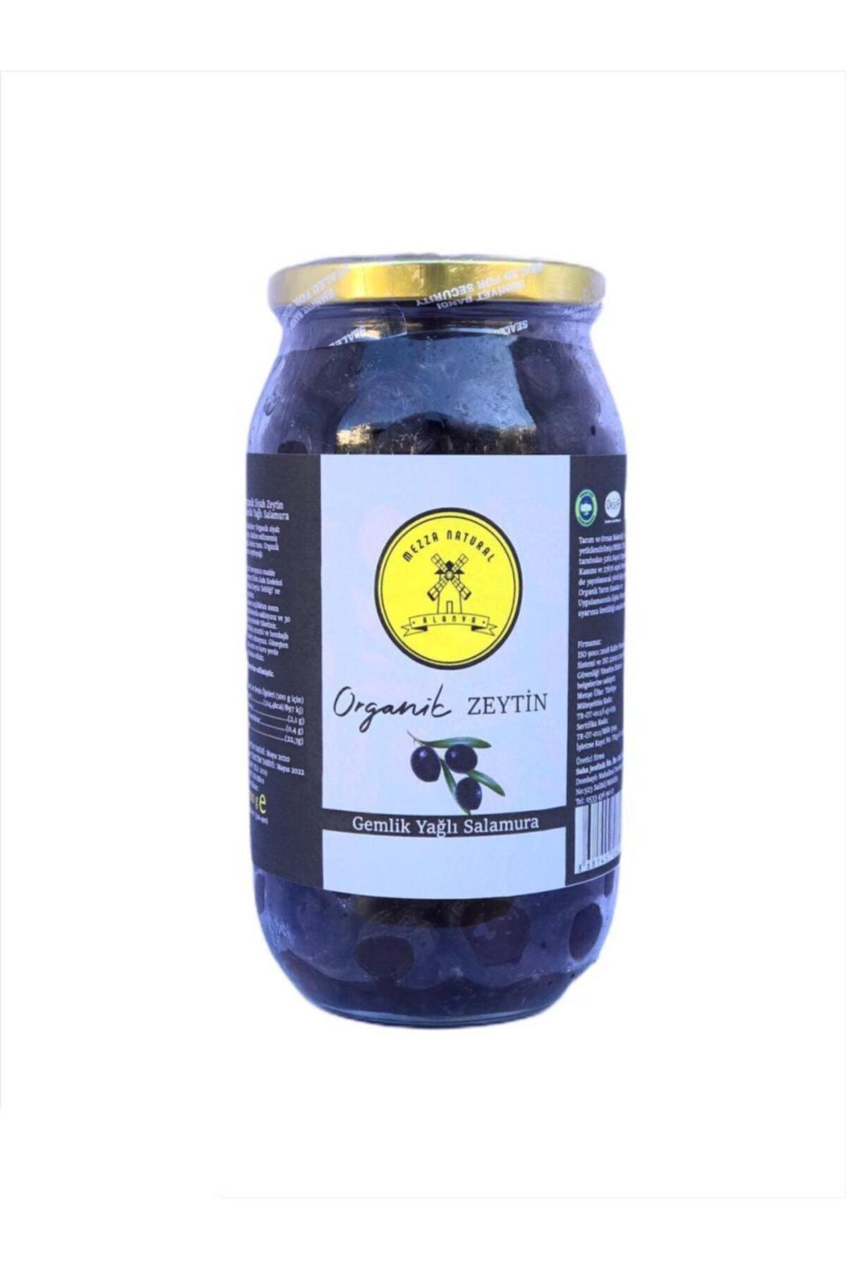 Organik Gemlik Yağlı Salamura Siyah Zeytin 700 Gr