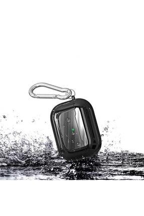 Zore Parlak Suya Dayanıklı Wireless Kablosuz Şarj Destekli Askı Aparatlı Kancalı  Airpods Pro Kılıf 4