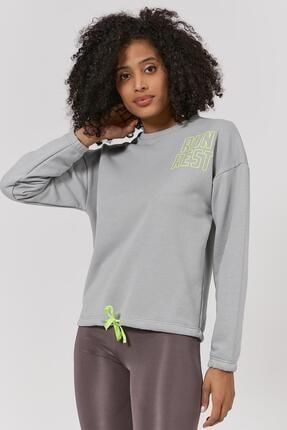 Pattaya Kadın Run Rest Baskılı Sweatshirt P20w-4171 1