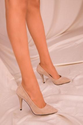 Soho Exclusive Ten Süet Kadın Klasik Topuklu Ayakkabı 15731 1