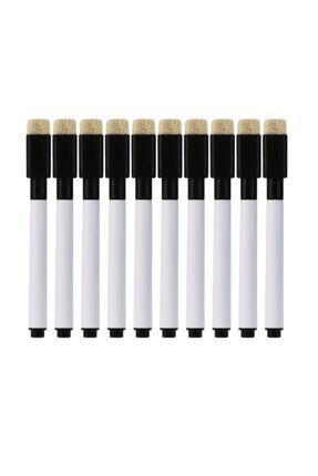 EKAP-35 10 Adet Silgili Akıllı Beyaz Tahta Kalemi - Silinebilir Siyah Renk Tahta Kalemi 1