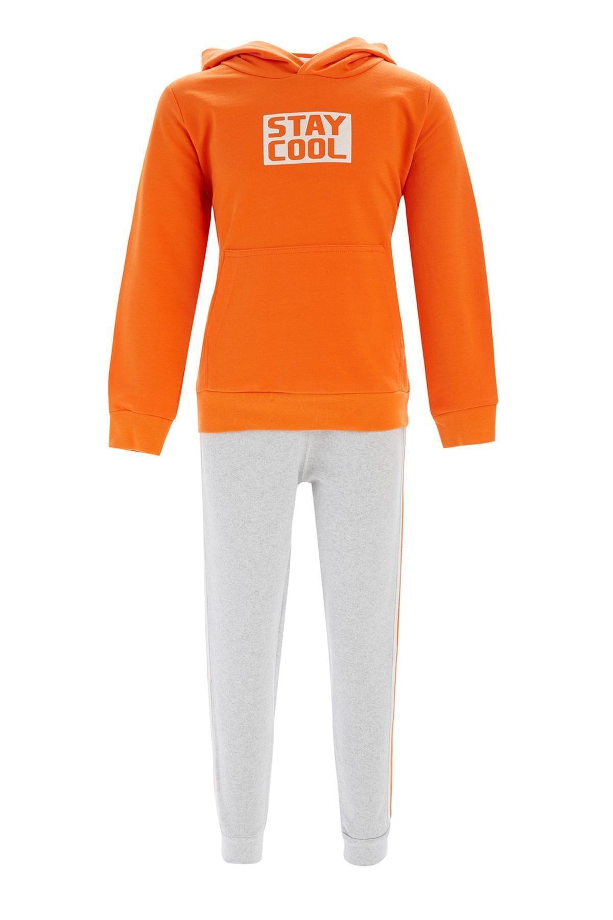 Erkek Çocuk Kapüşonlu Sweatshirt Ve Jogger Eşofman Takım S2884A620WN
