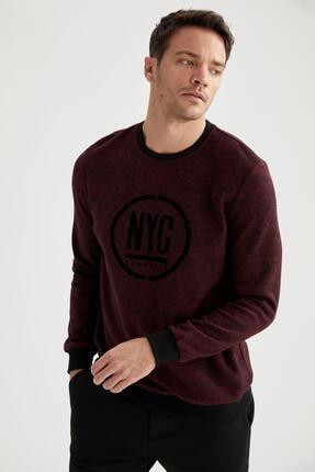 Defacto Nyc Baskılı Bisiklet Yaka Regular Fit Sweatshirt 4