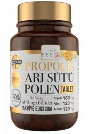 BEE UP Beeoup Propolis Arı Sütü Polen Tablet 500 Mg X 60 Adet 0