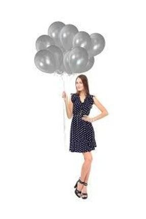 Magic Hobby 2 Adet 7'li Balon Standı Ve 14 Adet Rose Gold- Gümüş - Bordo Metalik Balon Set 4