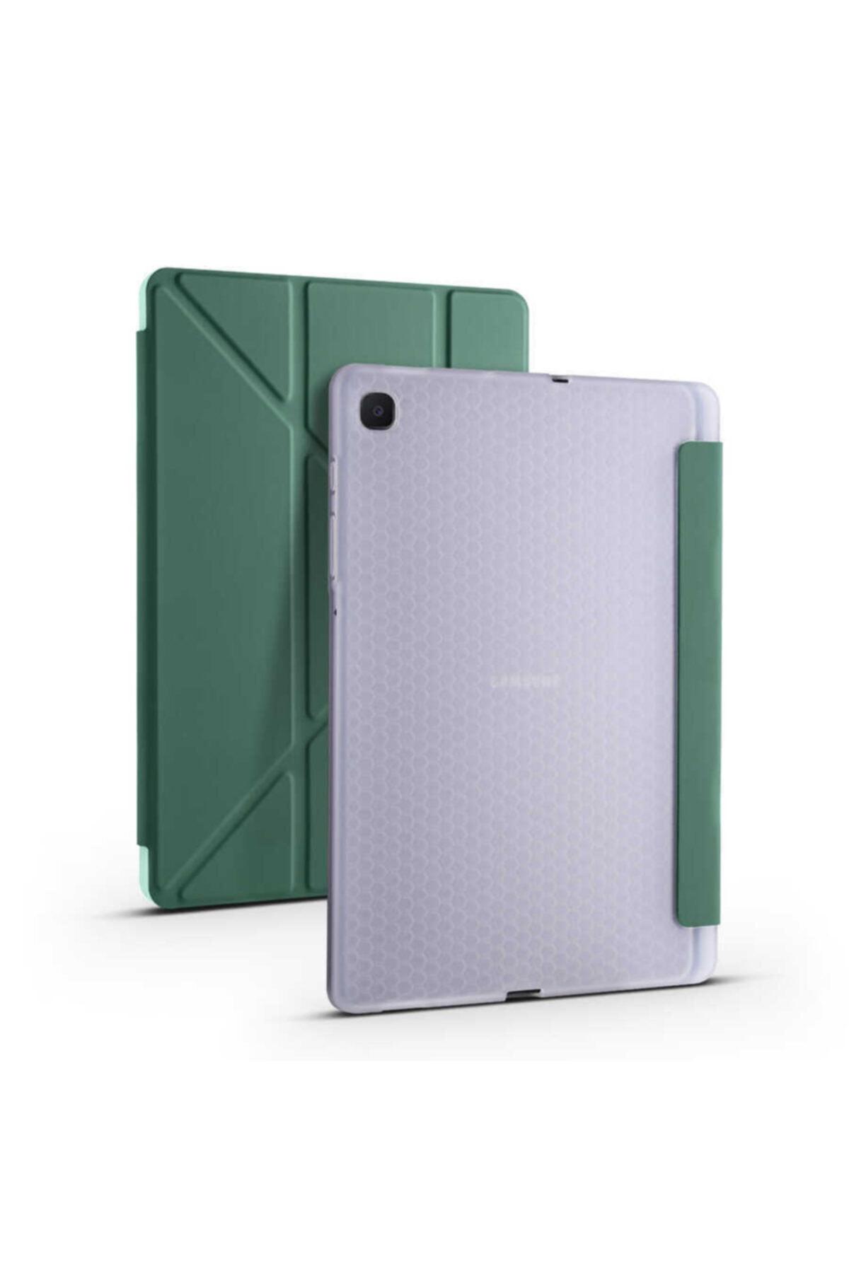 "Samsung Galaxy Tab S6 Lite Sm-p610 10.4"" Kılıf Kalem Bölmeli Smart Standlı Yumuşak Silikon Koruma"