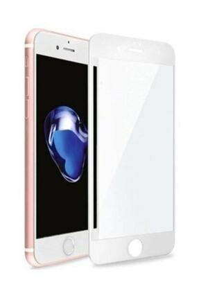 Glasslock Iphone 7 8 Tam Kaplayan 5d 9d Kırılmaz Cam Ekran Koruyucu Beyaz 1
