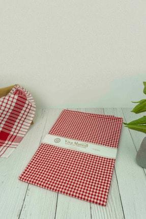 vivamaison Kırmızı Kareli Masa Örtüsü Piknik Örtüsü 1