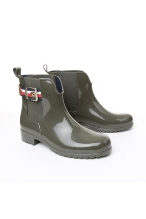 Tommy Hilfiger Kadın Yağmur Botu - Yeşil 0