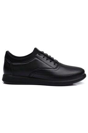 DETECTOR Erkek Siyah Ortopedik Iç Dış Komple Deri Ultra Rahat Günlük Ayakkabı 0