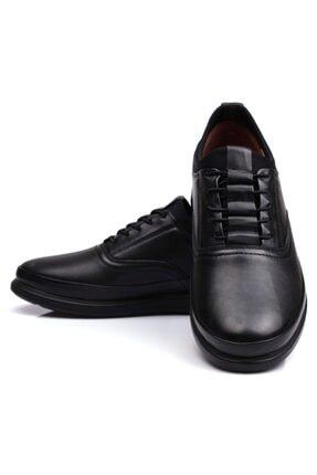 DETECTOR Erkek Siyah Ortopedik Iç Dış Komple Deri Ultra Rahat Günlük Ayakkabı 2