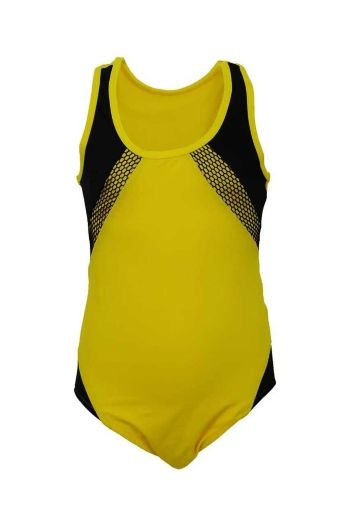 Kız Çocuk Sarı Yüzücü Mayo
