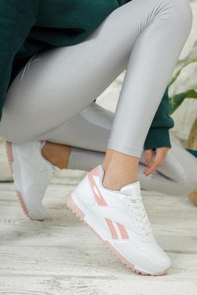 Moda Değirmeni Unisex Beyaz Pudra Sneaker Ayakkabı Md1053-101-0001 0