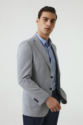 D'S Damat Lacivert Renk Erkek  Ceket (Slim Fit) 1