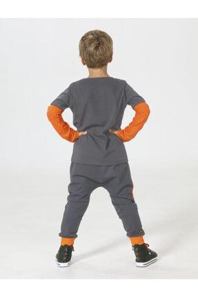ZENOKIDO Erkek Çocuk Turuncu Be Strong Harem Pantolon+t-shirt 1