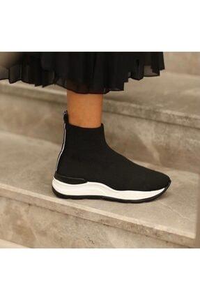 Meya Ayakkabı & Çanta Kadın Siyah Triko Bot 0