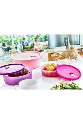 Yourhome 2 Adet 1500ml Kapaklı Yuvarlak Gıda Yemek Saklama Kabı Isıya Dayanıklı Mikrodalgada'da Kullanılır. 1