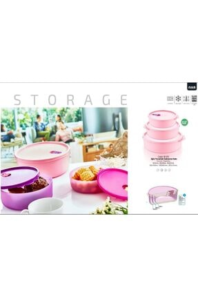 Yourhome 2 Adet 1500ml Kapaklı Yuvarlak Gıda Yemek Saklama Kabı Isıya Dayanıklı Mikrodalgada'da Kullanılır. 3
