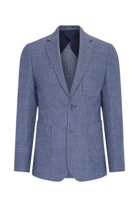 W Collection Erkek Lacivert Balık Sırtı Air Ceket 0