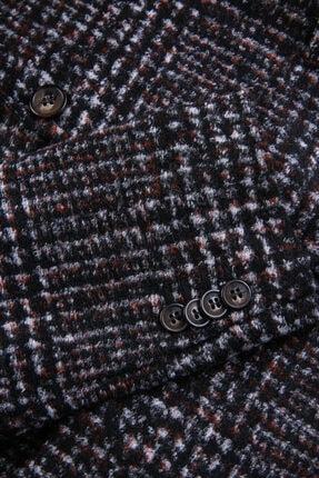 W Collection Erkek Siyah Beyaz Kırmızı Jakarlı Blazer Ceket 3