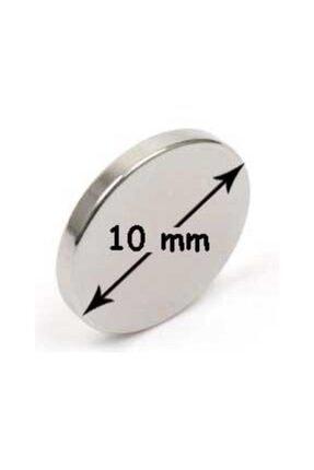 NeoHobi 10 Adet Neodyum Mıknatıs - Çok Güçlü - Çap:10m Kalınlık:1mm 0
