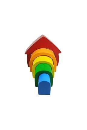 Arda Ahşap Oyuncak Ahşap Waldorf Canlı Renkli Ev Eğitici Bloklar 1