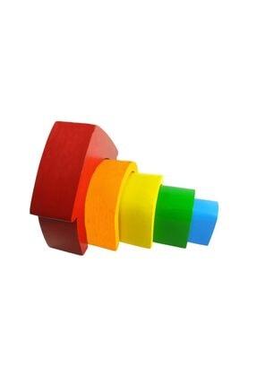 Arda Ahşap Oyuncak Ahşap Waldorf Canlı Renkli Ev Eğitici Bloklar 2