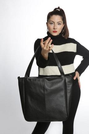 Etka Çanta Kadın Siyah Soft Salaş Omuz Çantası 2