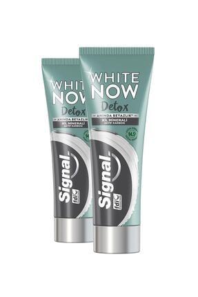 Signal White Now Detox Kil Minerali & Aktif Karbon Diş Macunu 75 ml X2 2