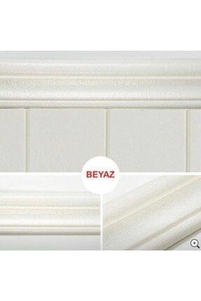 Renkli Duvarlar Beyaz 8cm-117cm 4 Adet Yapışkanlı Çıta Çerçeve Esnek Süpürgelik 4