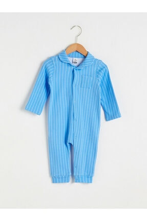 LC Waikiki Erkek Bebek Mavi Çizgili Tulum 0
