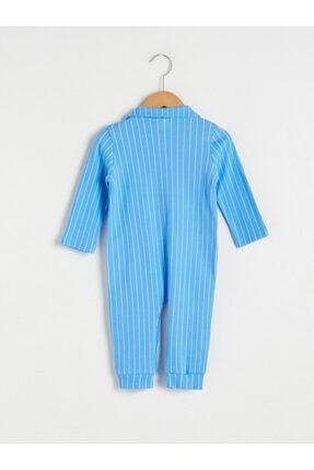 LC Waikiki Erkek Bebek Mavi Çizgili Tulum 1