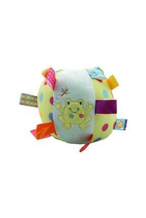 Sozzy Toys Peluş Çıngıraklı Topum - Kurbağa Figürlü 0