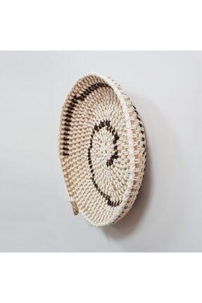 Limenis Afrika Etnik Üçlü Hasır Tabak Seti Bohem Afrikan Sepeti Duvar Dekoru 4