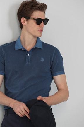 Lufian Vernon Spor Polo T- Shirt Indigo 2