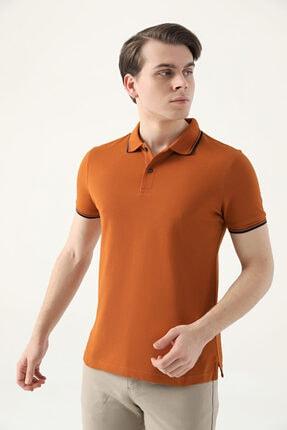 D'S Damat Ds Damat Slim Fit Tarçın Pike Dokulu T-shirt 1