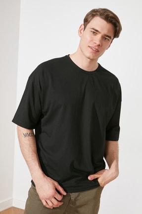 TRENDYOL MAN Siyah Erkek Oversize T-Shirt TMNSS21TS3022 1