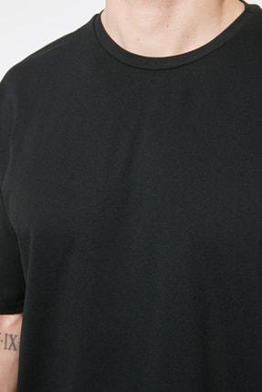 TRENDYOL MAN Siyah Erkek Oversize T-Shirt TMNSS21TS3022 3