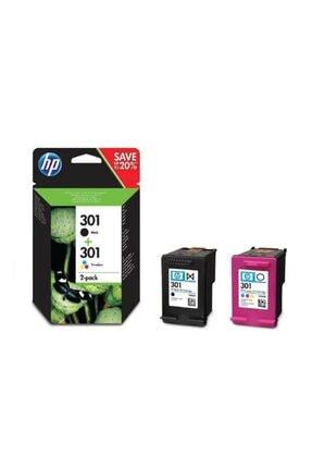 HP 301 Siyah/üç Renkli 2'li Pk Kartuş N9j72ae 0