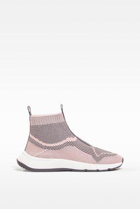 Çorap Model Örgü Yüksek Bilekli Spor Ayakkabı resmi