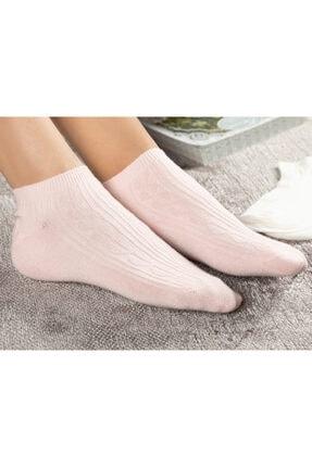 English Home Sophia Pamuk 2'li Kadın Çorap Pembe -Beyaz 1